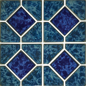 "POWPLDR534SPT Aquatica Atlantic Green Akron, 6"" x 6"" - Porcelain Pool Tile"