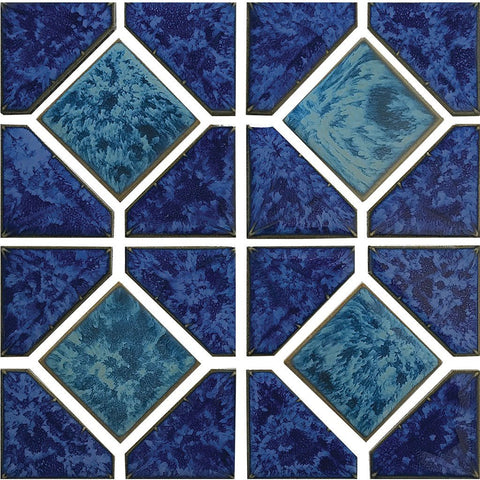 "POWPLDR641SPT Aquatica Pacific Blue Akron, 6"" x 6"" - Porcelain Pool Tile"