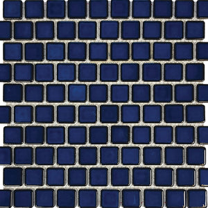 "POWPLHM106PT Aquatica Cobalt Blue, 1"" x 1"" - Porcelain Pool Tile"