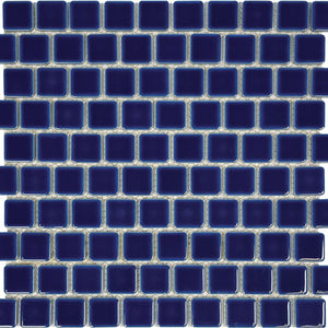 "POWPLHM110PT Aquatica Royal Blue, 1"" x 1"" - Porcelain Pool Tile"