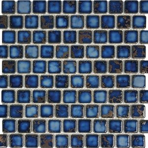 "POWPLHM113PT Aquatica Terra Blue, 1"" x 1"" - Porcelain Pool Tile"