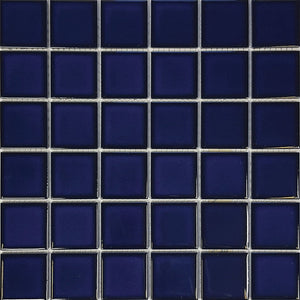 "POWPLHM206PT Aquatica Cobalt Blue, 2"" x 2"" - Porcelain Pool Tile"