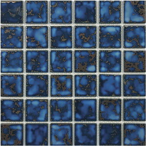 "POWPLHM213PT Aquatica Terra Blue, 2"" x 2"" - Porcelain Pool Tile"