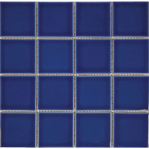 "POWPLHM310PT Aquatica Royal Blue, 3"" x 3"" - Porcelain Pool Tile"