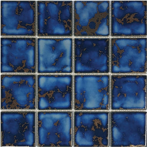 "POWPLHM313PT Aquatica Terra Blue, 3"" x 3"" - Porcelain Pool Tile"