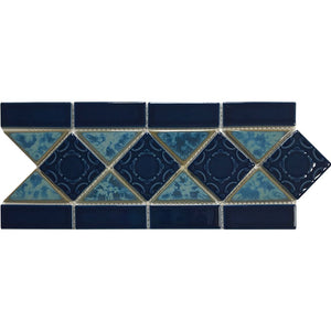 "POWPLL354SPT Aquatica Atlantic Blue, 6"" x 13"" - Porcelain Pool Tile"
