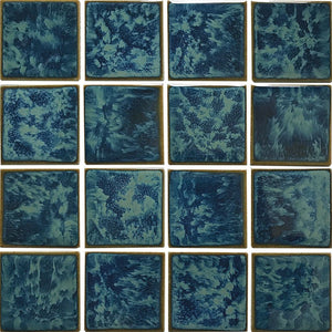 "POWPLRE342PT Aquatica Gulf Blue, 3"" x 3"" - Porcelain Pool Tile"