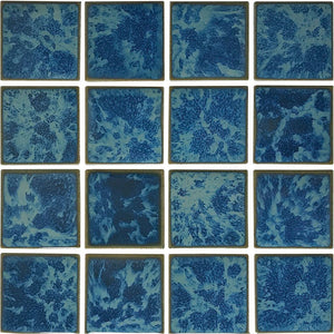 "POWPLRE343PT Aquatica Atlantic Green, 3"" x 3"" - Porcelain Pool Tile"