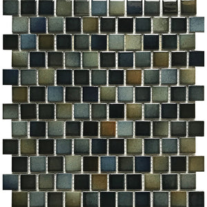 "POWPLSEABDARKPT Aquatica Dark, 1"" x 1"" - Porcelain Pool Tile"
