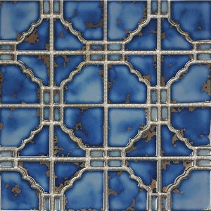 "POWPLSTB807PT Aquatica Terra Blue, 6"" x 6"" - Porcelain Pool Tile"