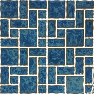 POWPLTMR343PT Aquatica Atlantic Green, Mixed Mosaic - Porcelain Pool Tile