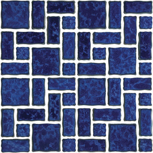 POWPLTMR344PT Aquatica Pacific Blue, Mixed Mosaic - Porcelain Pool Tile