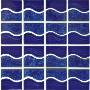 POWPLWS252PT Aquatica Lake Blue, Mosaic - Porcelain Pool Tile