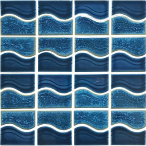 POWPLWS253PT Aquatica Smoke Blue, Mosaic - Porcelain Pool Tile
