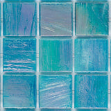 "Dark Fluorite, 3/4"" x 3/4"" - Glass Tile"