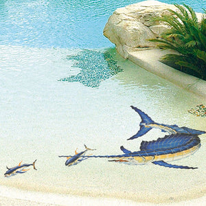 Sailfish - Reverse | SF12R | Pool Mosaic by Custom Mosaics