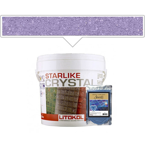 Litokol Lilac J.14, 5.5lb Pail + Color Pack - Tile Grout