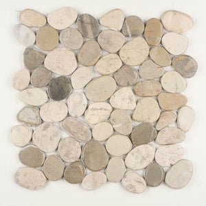 Stone Mosaics - Awan - Shaved Pebble Tile