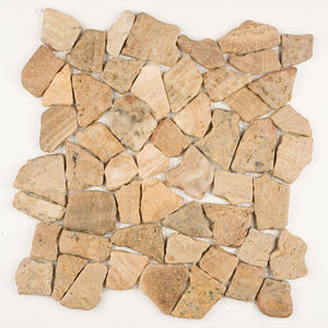 Stone Mosaics - Desert Sunset - Flat Stone Pebble Tile