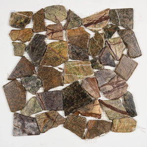 Stone Mosaics - Forest Mix - Flat Stone Pebble Tile