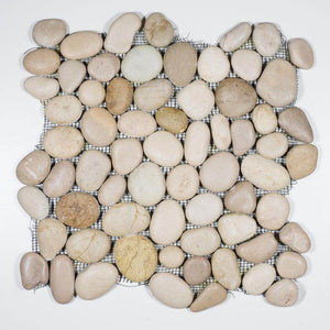 Stone Mosaics - Maluku Tan - Pebble Tile