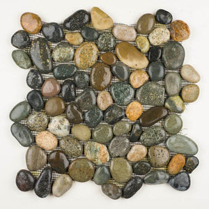 Stone Mosaics - Olive Mix - Pebble Tile