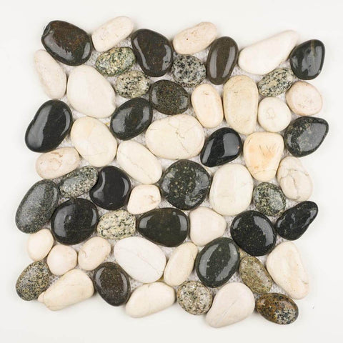 Stone Mosaics - Salt and Pepper - Pebble Tile
