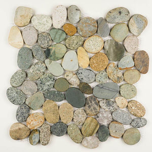 Stone Mosaics - Olive Mix - Shaved Pebble Tile