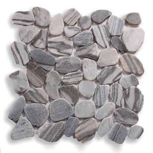 Stone Mosaics - Cat's Eye - Shaved Pebble Tile