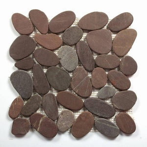 Stone Mosaics - Chocolate - Shaved Pebble Tile