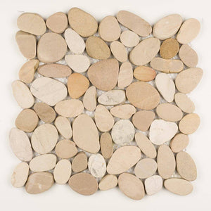 Stone Mosaics - Tan - Shaved Pebble Tile