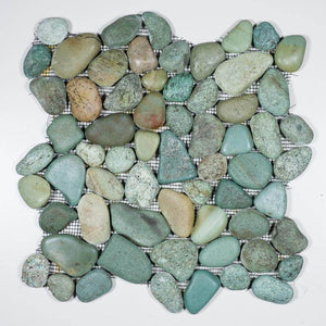 Stone Mosaics - Taipei Green - Pebble Tile