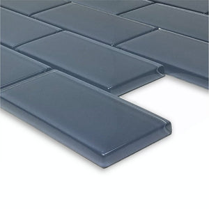 "Blue Gray, 2"" x 4"" - Glass Tile"