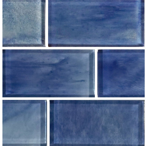 "Stratus Blue, 2"" x 4"" - Glass Tile"