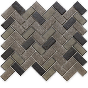 Fossil, Herringbone - Glass Tile