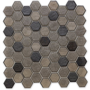 Fossil, Hexagonal - Glass Tile