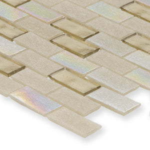 "Honeycomb, 1"" x 2"" Staggered - Glass Tile"