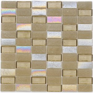 "Honeycomb, 1"" x 2"" Stacked - Glass Tile"