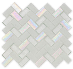 Iceberg, Herringbone - Glass Tile