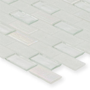 "Iceberg, 1"" x 2"" Staggered - Glass Tile"