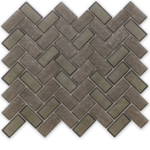 Northern, Herringbone - Glass Tile