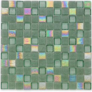 "Seagrass, 1"" x 1"" - Glass Tile"