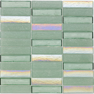 "Seagrass, 1"" x 4"" Stacked - Glass Tile"