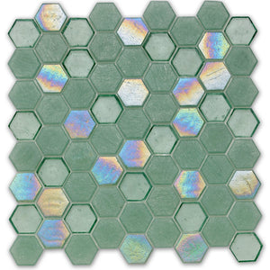 Seagrass, Hexagonal - Glass Tile