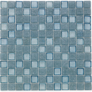 "Wave, 1"" x 1"" - Glass Tile"