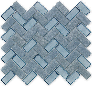 Wave, Herringbone - Glass Tile