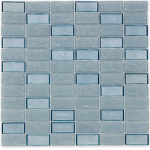 "Wave, 1"" x 2"" Stacked - Glass Tile"