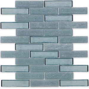 "Wave, 1"" x 4"" Staggered - Glass Tile"