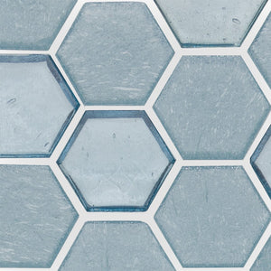 Wave, Hexagonal - Glass Tile
