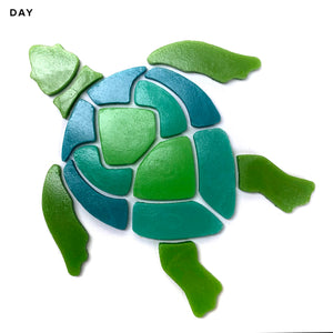 Large Turtle Pool Mosaic | Glow in the Dark Pool Tile | Element Glo